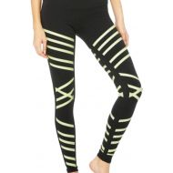 Alo Black and Neon Activewear Bottoms