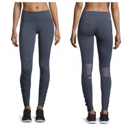 Alo Gray Ombre Runway Ruched Paneled Performance Pants Blue/Glossy Activewear Bottoms