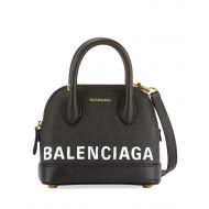Balenciaga Ville Pebbled Top Handle Bag