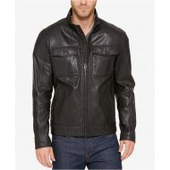 Cole Haan Mens Leather Trucker Jacket