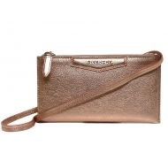 Givenchy Messenger New Antigona Pouch Metallic Wallet Pink/Rose Gold Leather Cross Body Bag