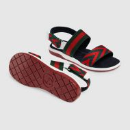 Gucci Childrens Chevron leather sandal