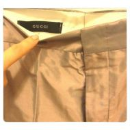 Gucci Metallic Grey Pants