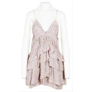 EEtoile Isabel Marant White and Blue By Silk Star Casual Dress