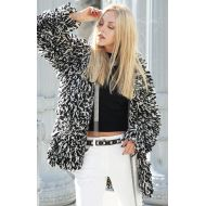 Isabel Marant Black and White Loop Wool Cardigan Sweater Jacket