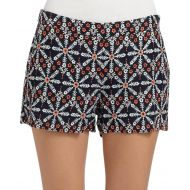Joie Navy Jacobella Floral Embroidered Shorts
