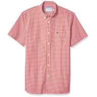 Lacoste Mens S/S Reg Fit Gingham Poplin Button Down Woven