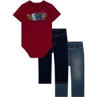 Levi%27s Levis Baby Boys First 3-Piece Bodysuit and Leggings Gift Set
