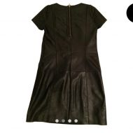 Maje Black Annabelle Leather Night Out Dress