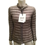 Moncler Grey XL Damas Quilted Nylon Down Feather Puffer Parka 4 Jacket