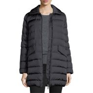 Moncler Charcoal New 1 Indis Red Fur Colar Coat