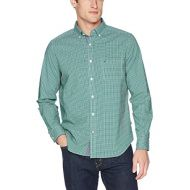 Nautica Mens Classic Fit Stretch Gingham Long Sleeve Button Down Shirt
