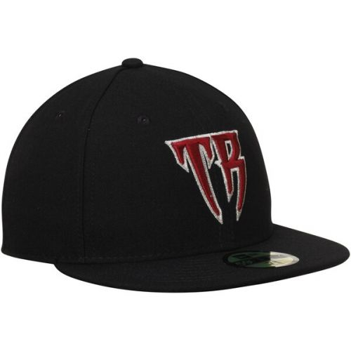 Mens Wisconsin Timber Rattlers New Era Black Authentic 59FIFTY Fitted Hat