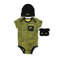 NIKE Nike Infant Babys 3-Piece Bodysuit, Hat & Booties Set