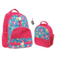 Stephen Joseph Girls Owl Print Backpack and Lunch Box with Zipper Pull
