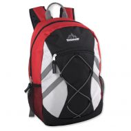 Trail maker Trailmaker Full Size 17 Inch Bungee Backpack With Mesh Side Pockets (Black)