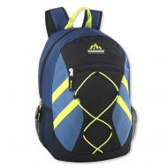 Trail maker Trailmaker Full Size 17 Inch Bungee Backpack With Mesh Side Pockets (Blue)